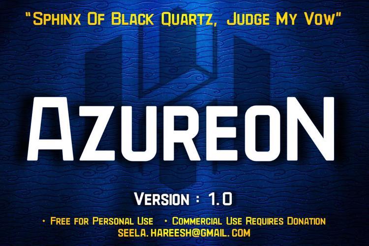 AzureoN Font