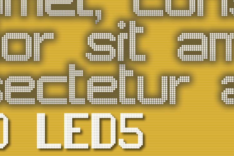 JD LED5 Font
