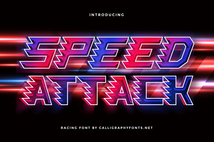 Speed Attack Font