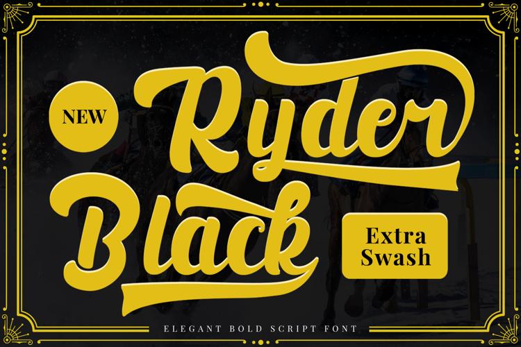 Black Ryder Font