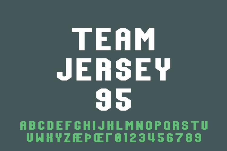 Team Jersey 95 Font