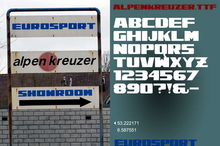 Alpenkreuzer Font