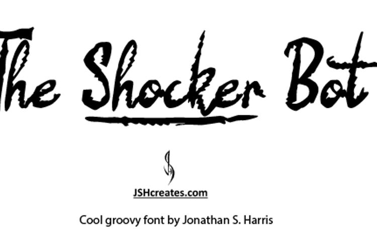 The Shocker Bot Font