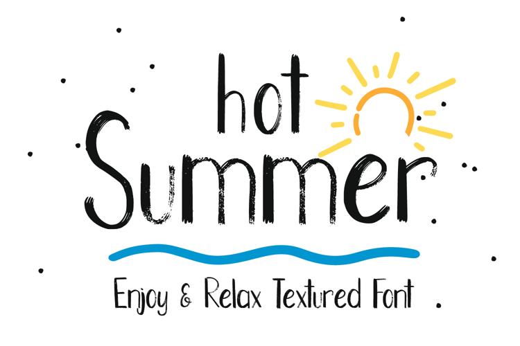 Hot Summer Font