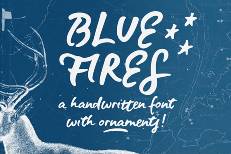 Blue Fires Sample Font