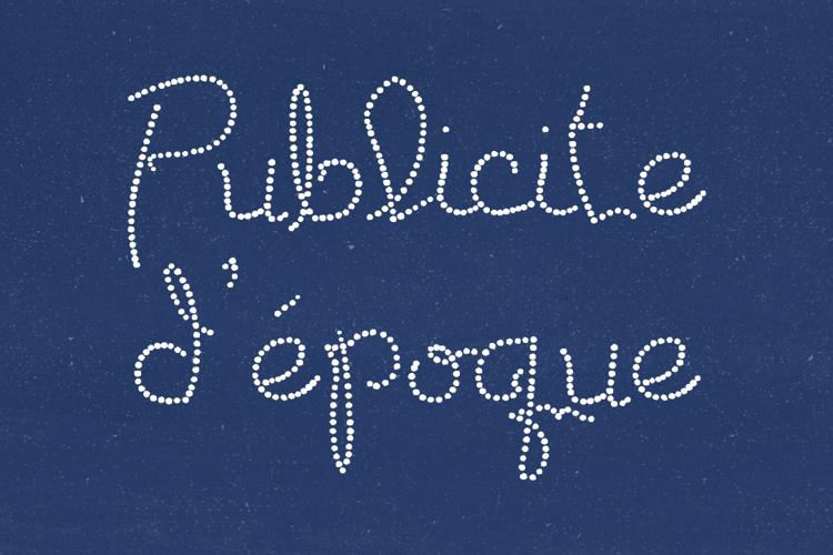 Publicite d'epoque basic Font