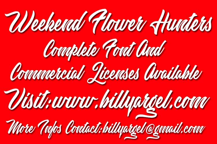 Weekend Flower Hunters Font