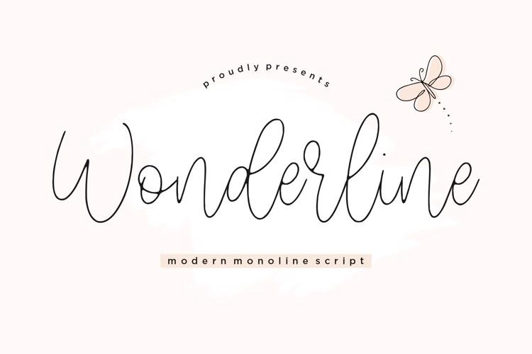 Wonderline Font