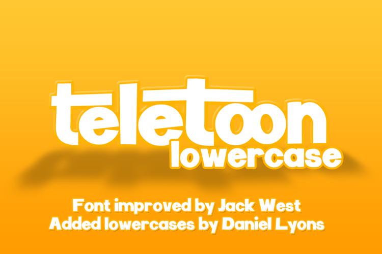 Teletoon Lowercase Font