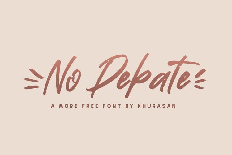 No Debate Font