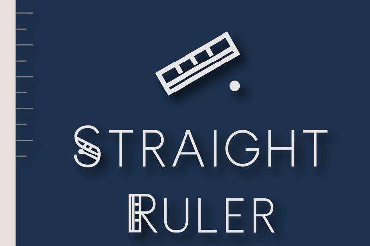 Straight Ruler ~ Font