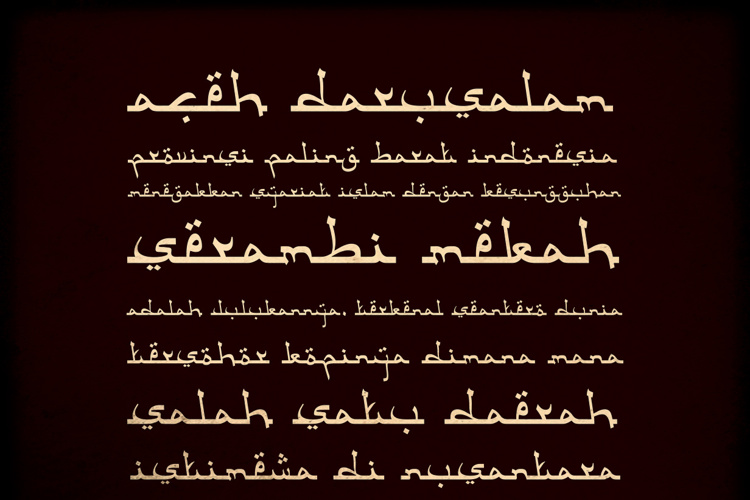 Aceh Darusalam Font