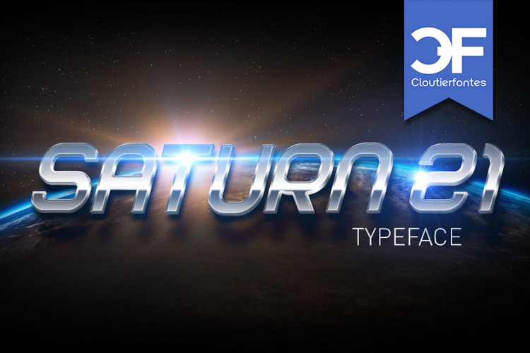 CF Saturn 21 Font
