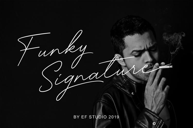 Funky Signature Font