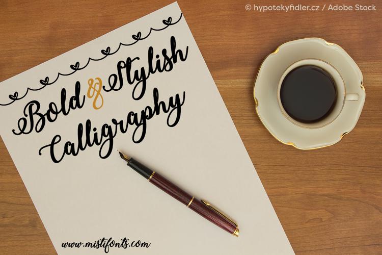 Bold  Stylish Calligraphy Font