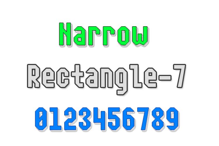 Narrow Rectangle-7 Font