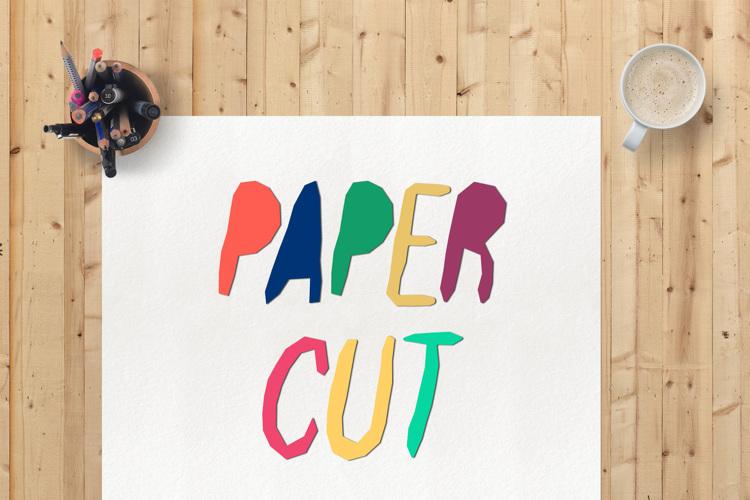 Paper Cut Font