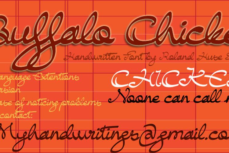 Buffalo Chicken Font
