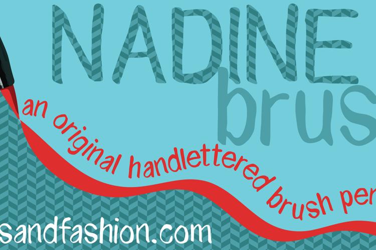 NADINE brush Font