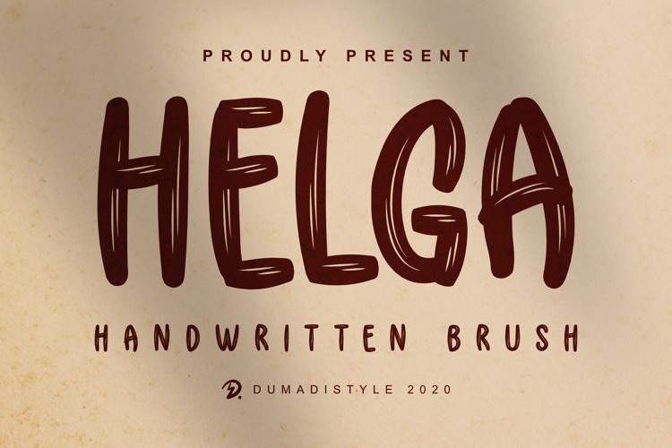 Helga Brush Font