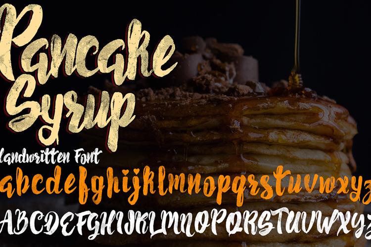 Pancake Syrup  Textured Font