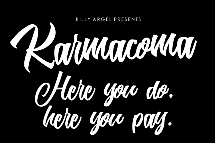 Karmacoma Font