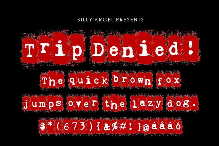 Trip Denied Font