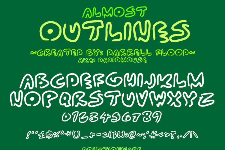 Almost Outlines Font