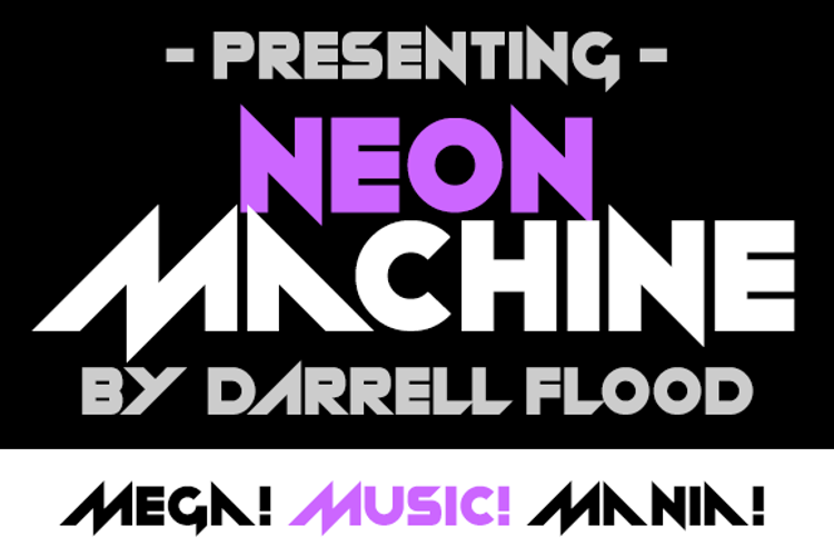 Neon Machine Font