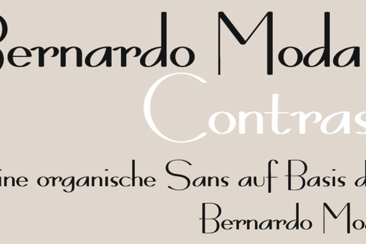 Bernardo Moda Contrast Font