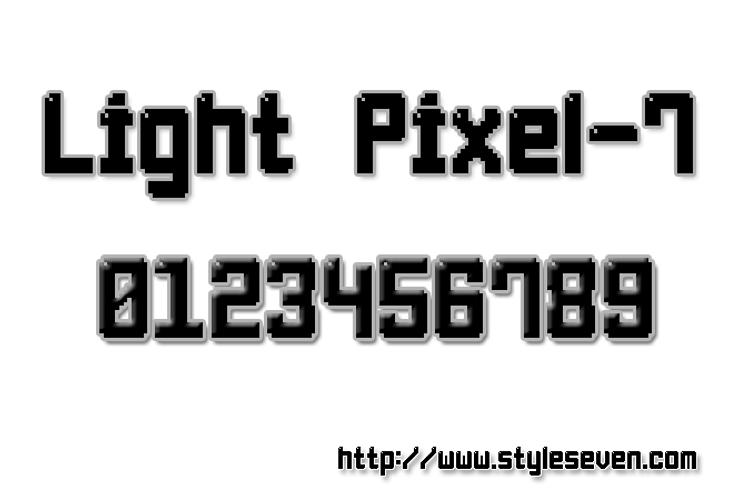 Light Pixel-7 Font