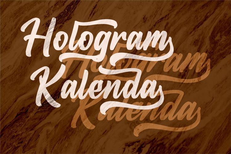 Hologram Kalenda Font