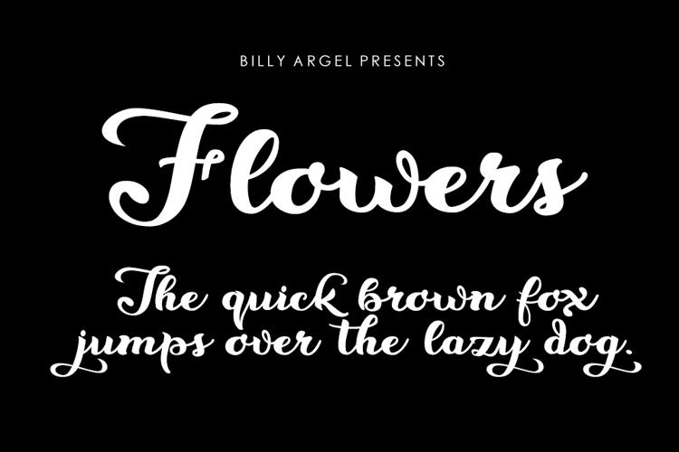Flowers Font