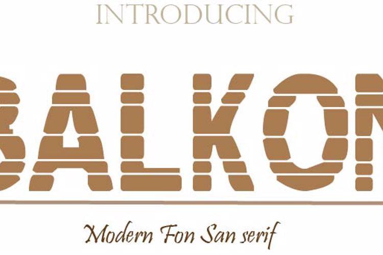 BALKON Font