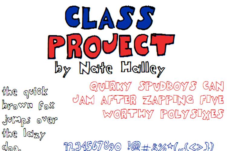 ClassProjectNBP Font