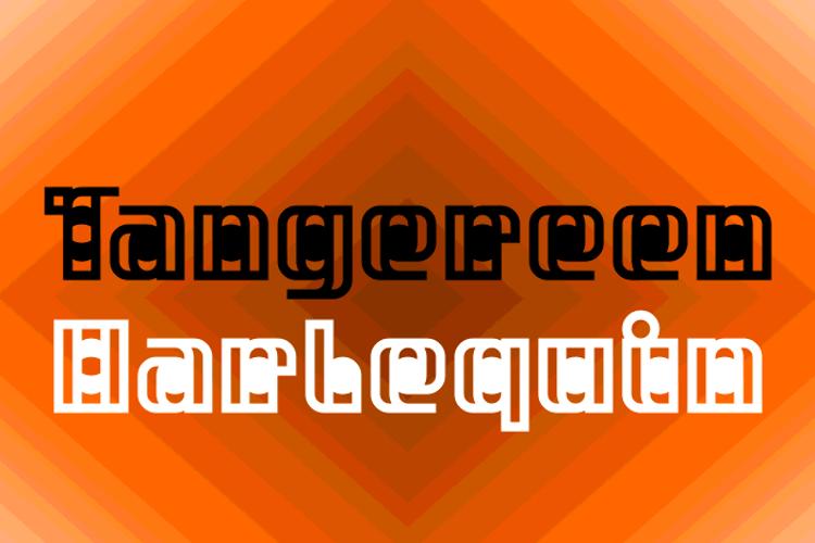 Tangereen Harlequin Font
