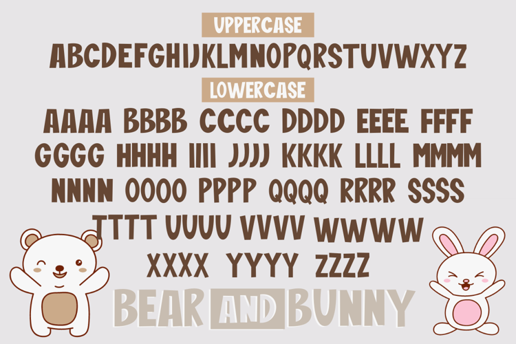 Bear And Bunny Font