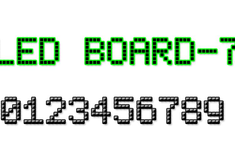 LED Board-7 Font