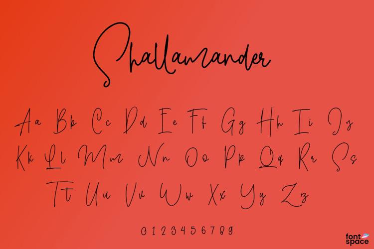 Shallamander Font