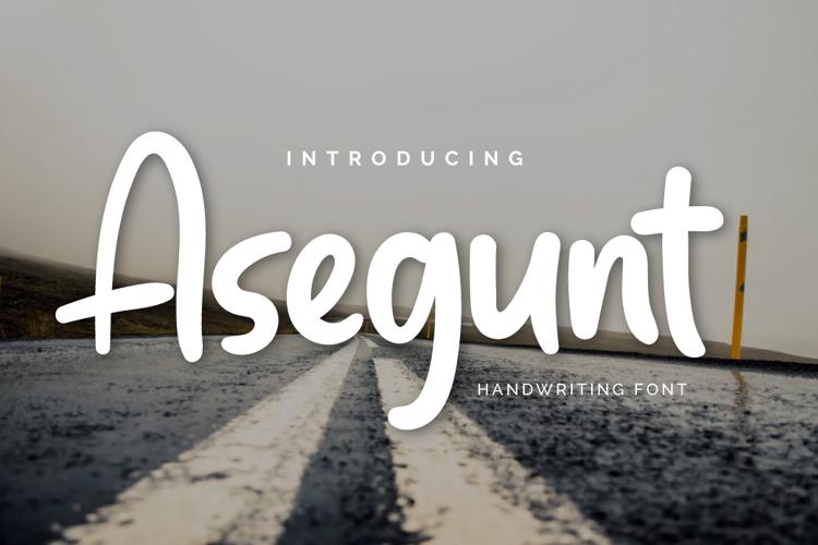 Asegunt Personal Font