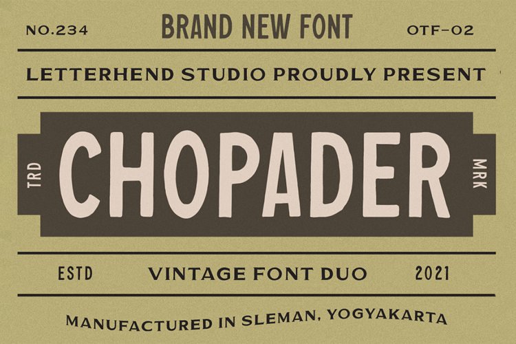Chopader One Font
