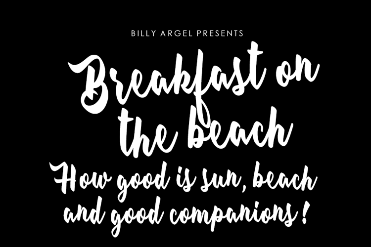 Breakfast on the beach Font