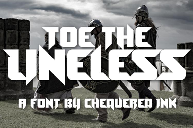 Toe the Lineless Font