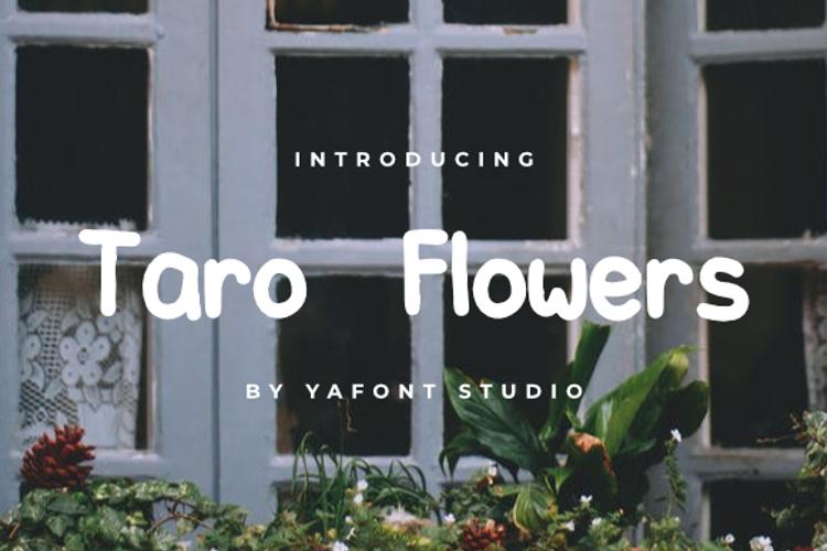 Taro Flowers Font