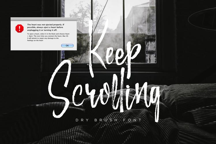 Keep Scrolling Font