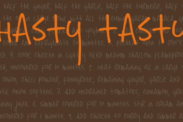 DK Hasty Tasty Font