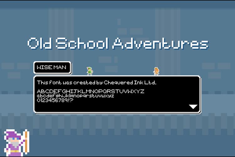 Old School Adventures Font
