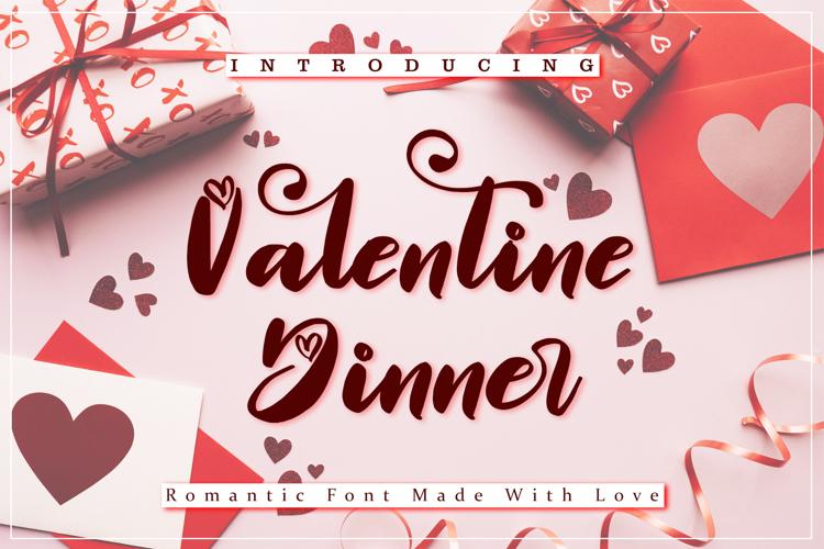 Valentine Dinner Font