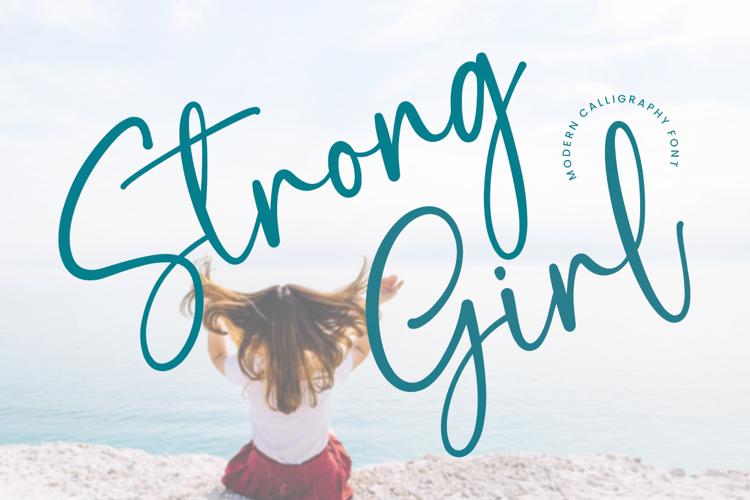 strong girl Font