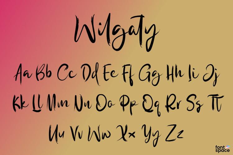 Wilgaty Pen Font